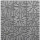 "Decorative tile ""Tacos selva"" - 10x10cm - Glazed in satin and crystalline white."
