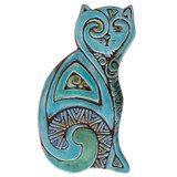 Cat ceramic wall art for kitchens, bathrooms and outdoor wall decor. Our handmade tiles make a beautiful wall art for your home or garden.