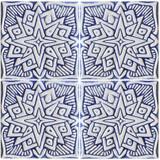 decorative tile moroc #2 - blue & white [15cm]