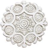 Suzani ceramic wall art #1 - Cutout White&Beige