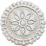 Suzani ceramic wall art #4 - Cutout White&Beige