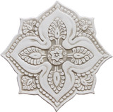 Ceramic wall art - Mandala Cutout - #5 - Beige