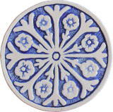 Wall decoration Suzani#2 Circular 15cm - Blue&White