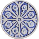 Wall decoration Suzani#2 Circular 15cm - Blue&White