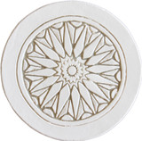 Moroccan circle wall art beige border