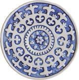 Wall decoration Suzani Circular 21cm Blue&White