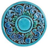 Circular Tile with Swirls - Small