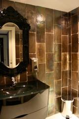 Handmade tiles bathroom metallic Subway tiles