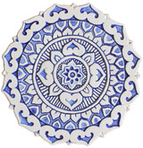"Mandalita ceramic wall art deco/R - blue  [28cm/11""]"