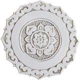 "Mandalita ceramic wall art liso/R - beige [28cm/11""]"