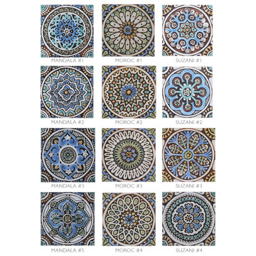 These handmade tiles make wonderful wall decor or outdoor wall art.  Decorative tile handmade in Spain.
