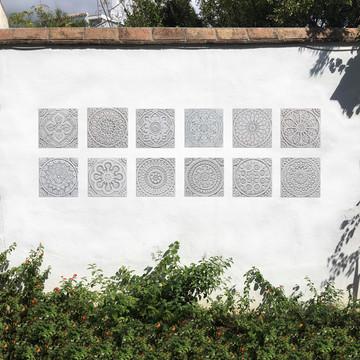 "Handmade Tiles Set10 Grey [20cm/7.8""]"