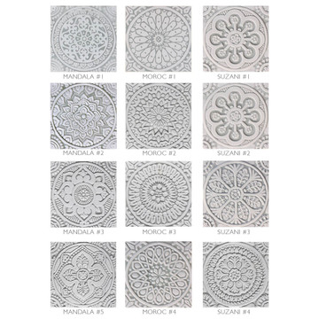 "Handmade Tiles Set12 Grey [20cm/7.8""]"