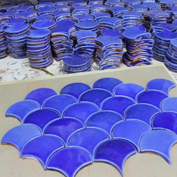 Handmade tiles fish scale [10x9cm]