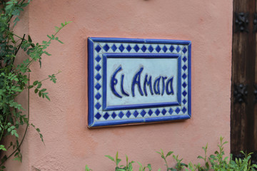House sign made from ceramic  - hand painted sign - house name
