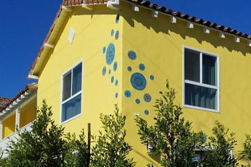 "Ceramic Wall Art Circle Turquoise Mandalita D [30cm/11.8""]"