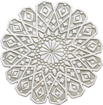 Moroccan ceramic wall art #4 Beige - cutout