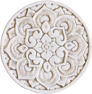 Wall decoration Circular Mandala 21cm Beige