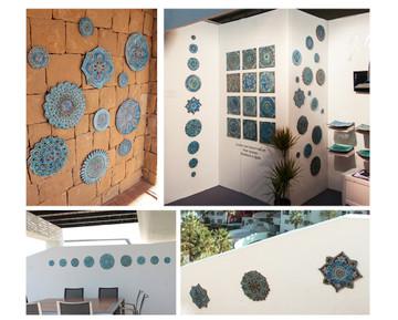 Ceramic Wall Art Circles Several Context