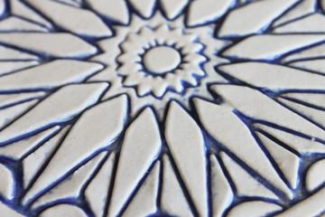 Moroccan ceramic tile zoom blue & white