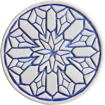 Moroccan circle wall art#2 blue