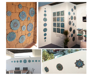 Moroccan ceramic wall art context interior