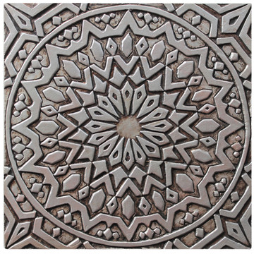 These handmade tiles make wonderful kitchen tiles, bathroom tiles, wall decor and outdoor wall art.  Silver tile handmade in Spain.