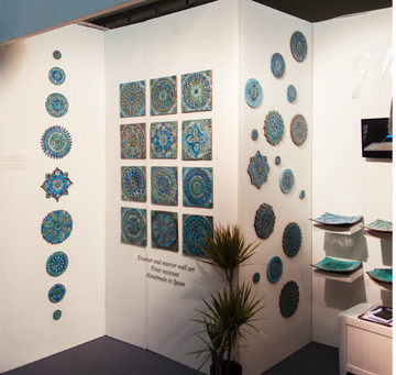 Circular Tiles Wall Art Exibition in London