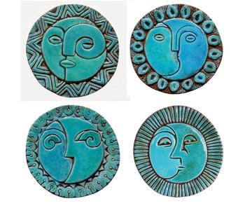 Circular Tile Sun&Moon - 4 Small Designs