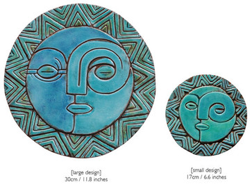 Circular Tile Sun&Moon - Large&Small