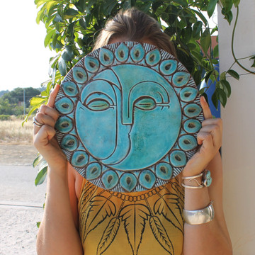 Circular Tile Sun&Moon - #2 - Large - Angle