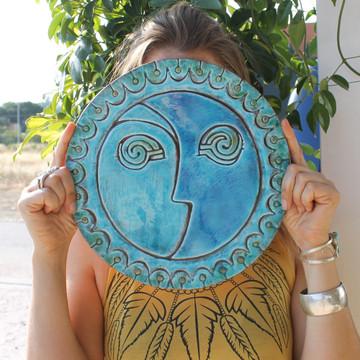 Circular Tile Sun&Moon - #3 - Large - Angle