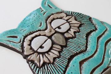 Wall Art Owl - Large - Jade