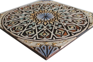 """Handmade Tile matt blue Moroccan #4 [30cm/11.8""""]"""