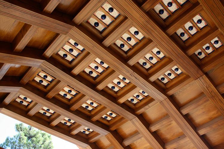 Custom ceiling tiles made from ceramic.