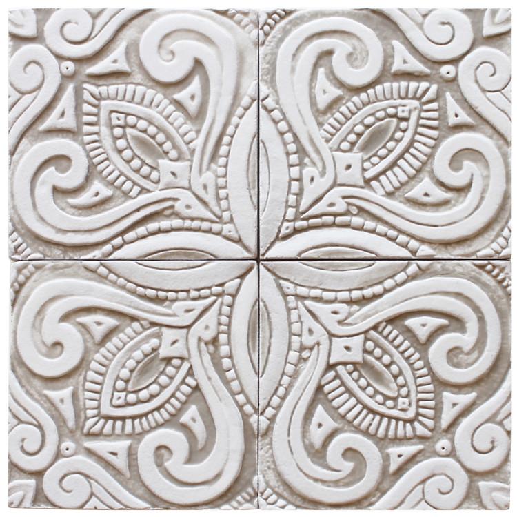 decorative tile - susama - beige [15cm]