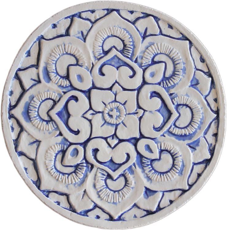 Wall decoration Circular Mandala 21cm - Blue&White