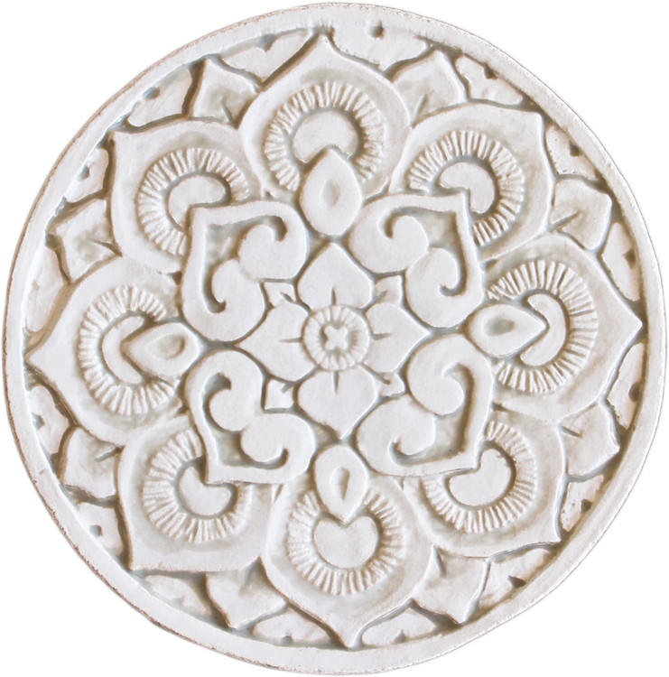 Wall decoration Circular Mandala 21cm Beige