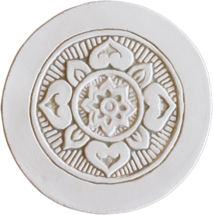 Wall decoration Mandala 21cm with Border - Beige.