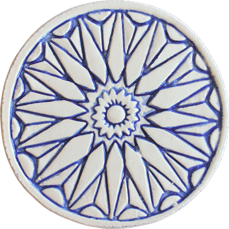 Moroccan  wall art #1 blue 15cm