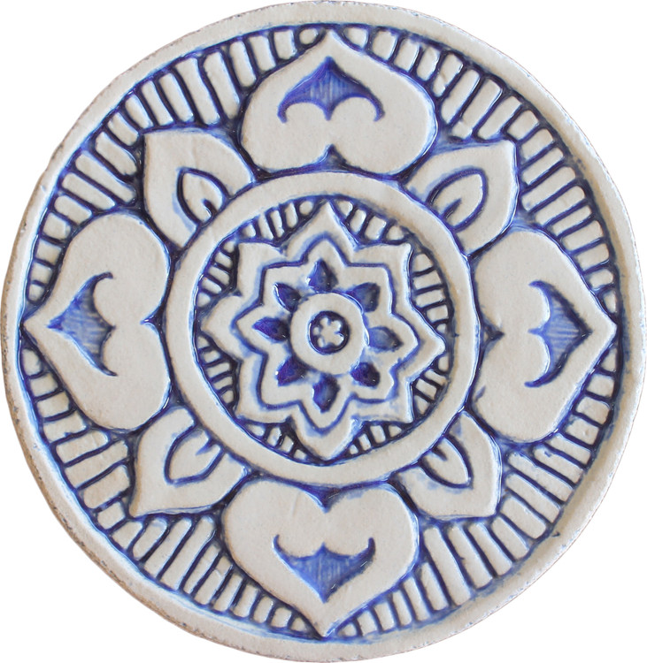Wall decoration Mandala#1 Circular 15cm Blue&White