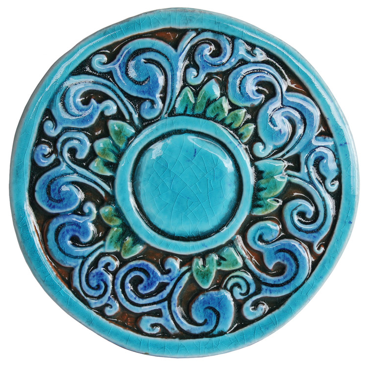 Circular Tile with Swirls - Small