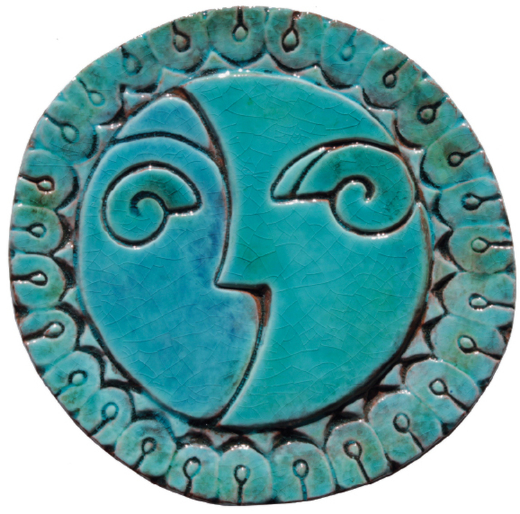 Circular Tile Sun&Moon - #3 - Small