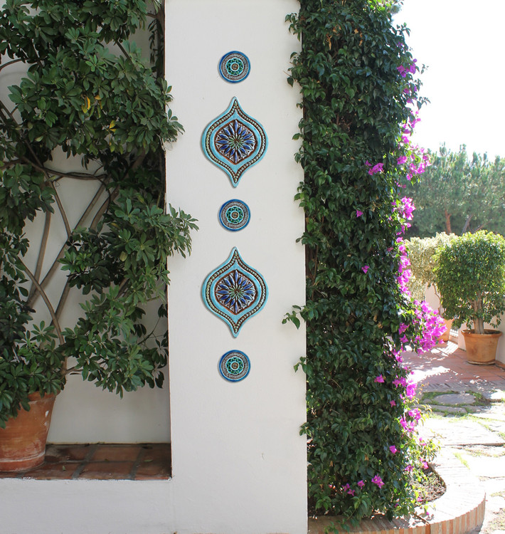 All Seeing Eye Wall Art & Mandala circles Context Outdoor Pillar