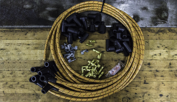 Vintage Wires come bundled and ready to trim to length and terminate for the perfect fit.