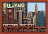 Chicago L-Train Postcard 5x7