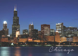 Chicago South Loop Dusk Postcard 5x7
