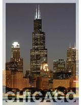 Chicago Willis Tower Vertical Postcard 5x7