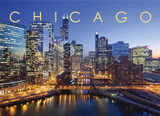 Chicago South River View Postcard 5x7