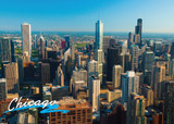 Chicago Aerial Day South Postcard 5x7